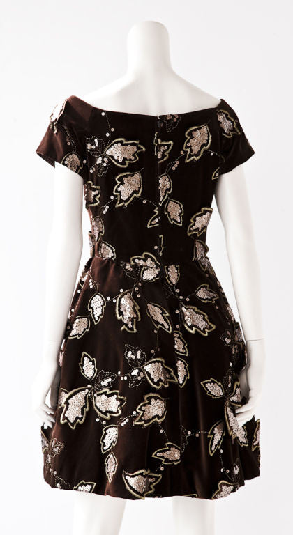 Scassi Velvet Cocktail Dress