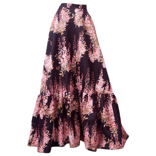 Rochas Floral Evening Skirt