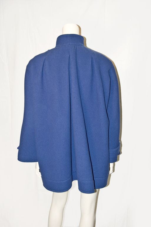 Nina Ricci French Blue Wool Jacket