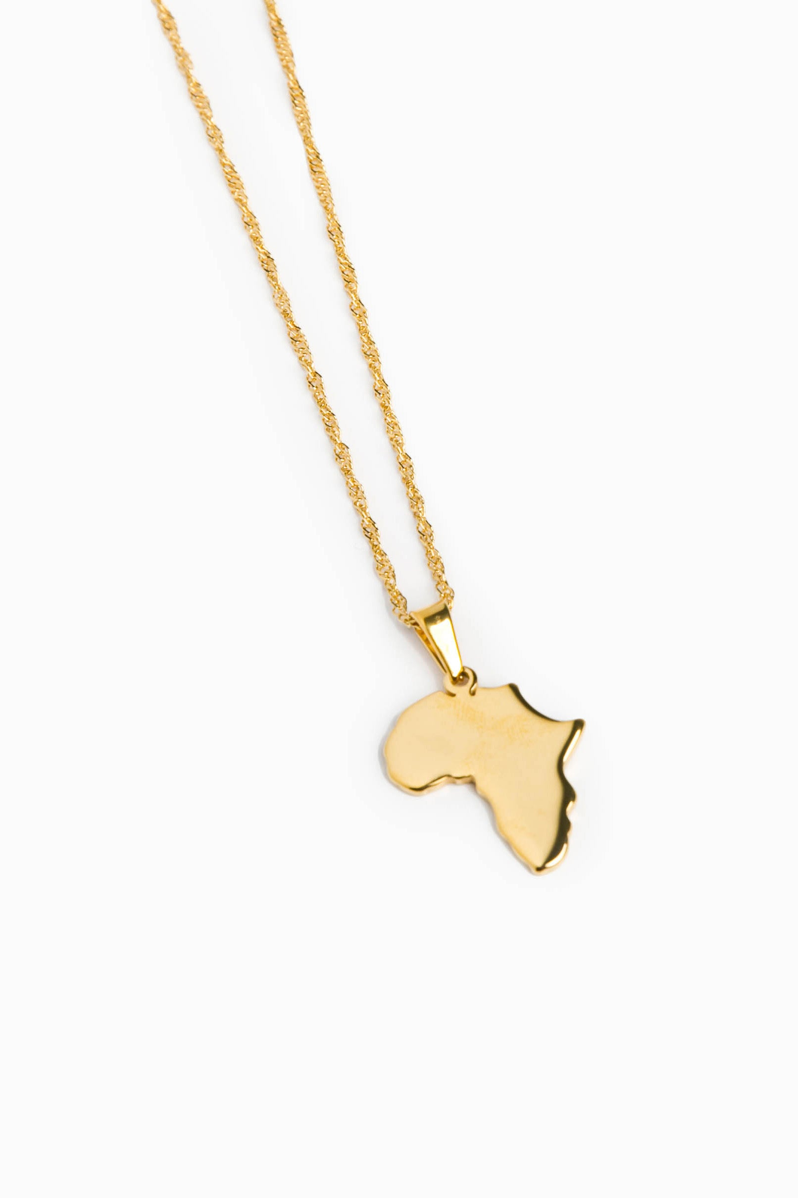 Africa Map Necklace   East Africana
