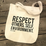 Spread Respect - Canvas Tote Bag - R.O.S.E. clothing