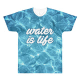 Give Water - Water Is Life All-Over Printed Unisex T-Shirt - R.O.S.E. clothing