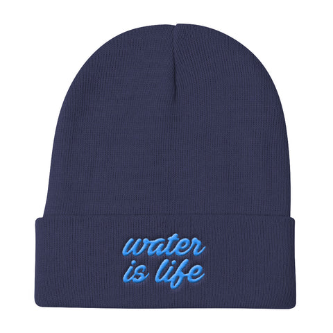 Give Water - Water Is Life Knit Beanie - R.O.S.E. clothing