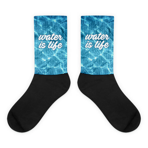 Give Water - Water Is Life Socks - R.O.S.E. clothing