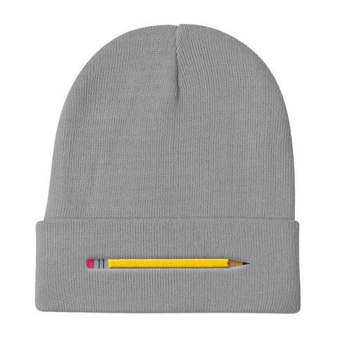 Girls' Education - Yellow Pencil Knit Beanie - R.O.S.E. clothing