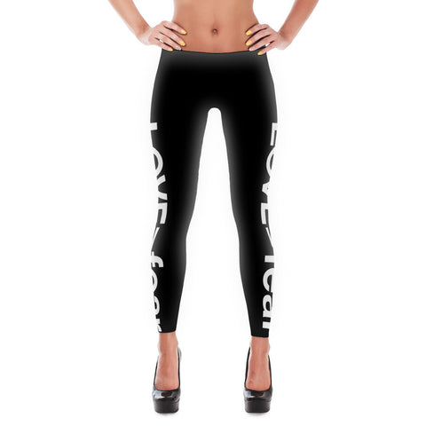 LOVE (is greater than) fear  -  Leggings - R.O.S.E. clothing