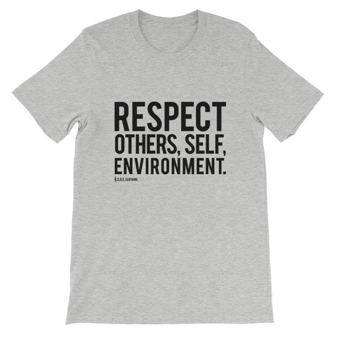 Spread Respect - Short-Sleeve Unisex T-Shirt - R.O.S.E. clothing