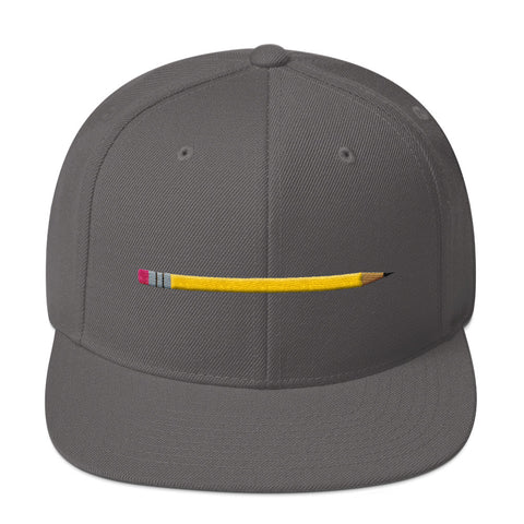 Girls' Education - Yellow Pencil Snapback Flat Bill Hat - R.O.S.E. clothing