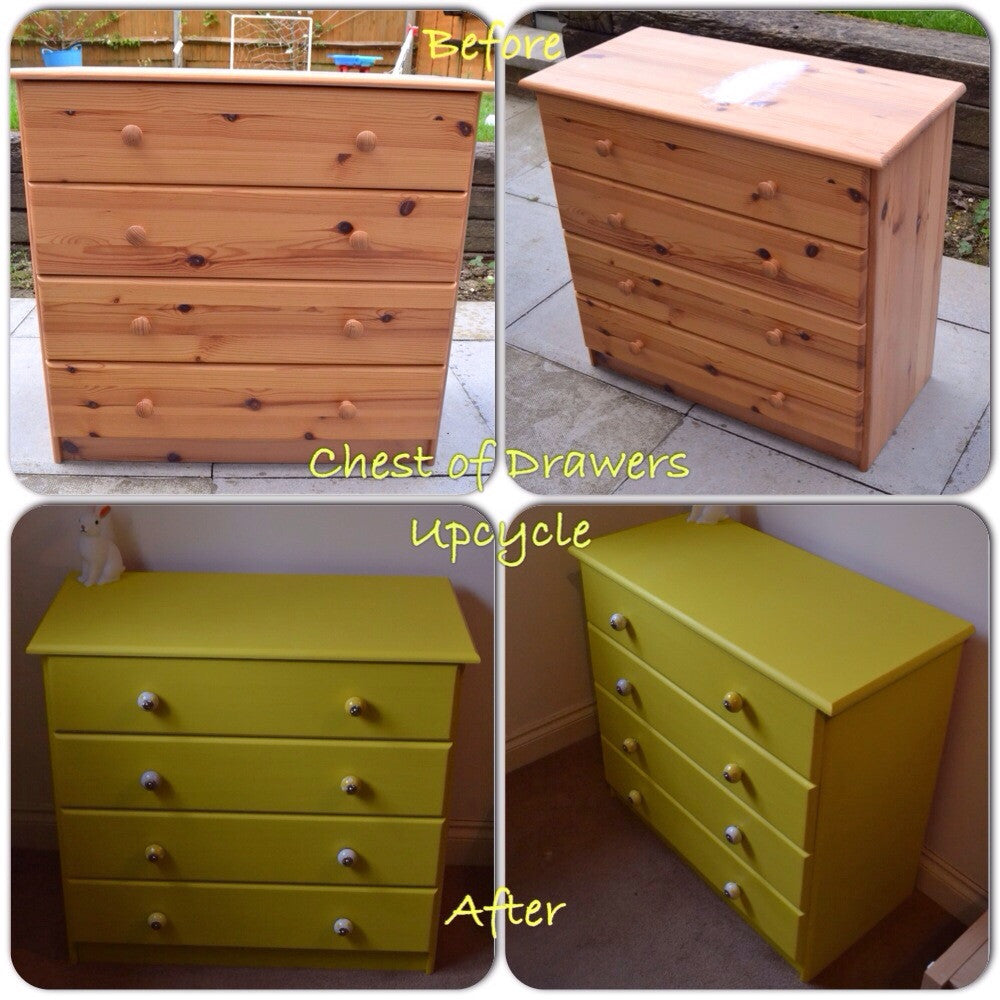 Upcycle a pine chest of drawers for a completely new look