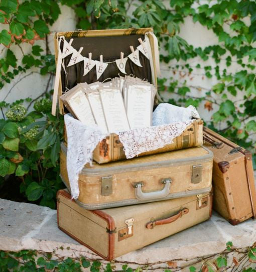 Using Vintage Suitcases at your Wedding