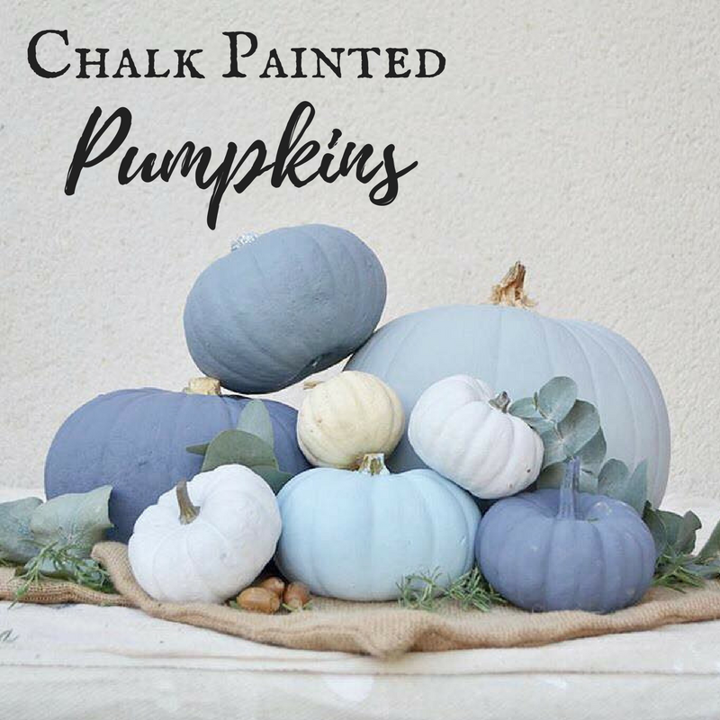 Create Chic Chalk Painted Pumpkins for Halloween