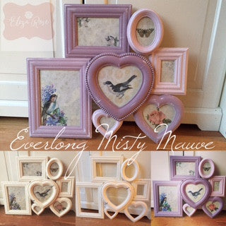 Transforming a Photo Frame Set with Everlong Misty Mauve Paint