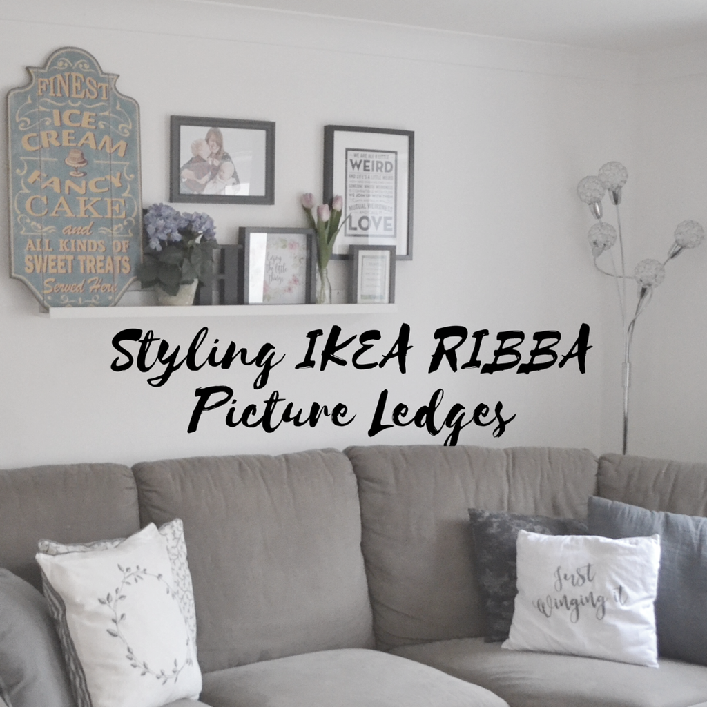 Styling IKEA RIBBA Picture Ledges