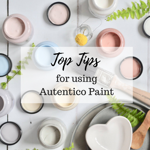 Top tips for using Autentico Paint