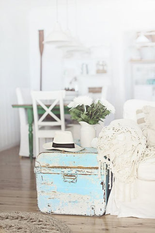 blue shabby chic in a coastal home