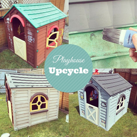 How to upcycle and repaint a plastic playhouse using Everlong Chalk Paint