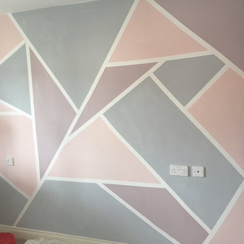 How To Create A Geometric Wall With Everlong Paint Eliza
