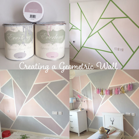 How to create a geometric wall with chalk paint