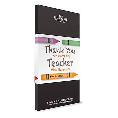 personlised chocolate bar for teachers