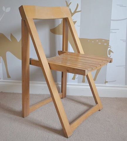Wooden folding chair upcycled with Everlong Paint