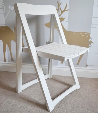 Folding chair painted in Everlong Chalk Paint in Vintage
