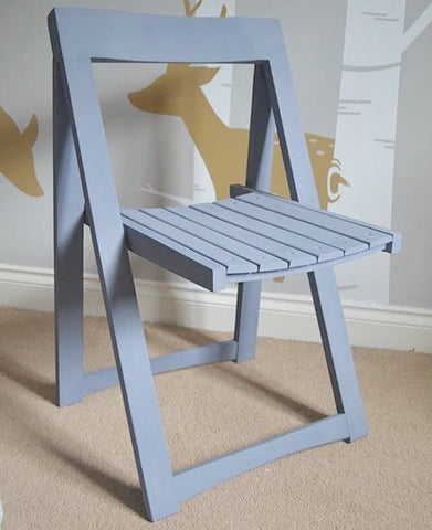 Folding wooden chair painted in Everlong Amble Sea