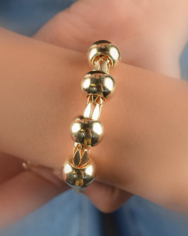 Golden Beaded Adjustable Bracelets - zakastore