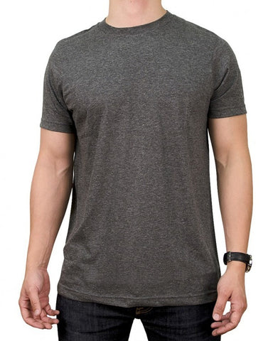 Men's Short Sleeve Round Neck Solid T-Shirt