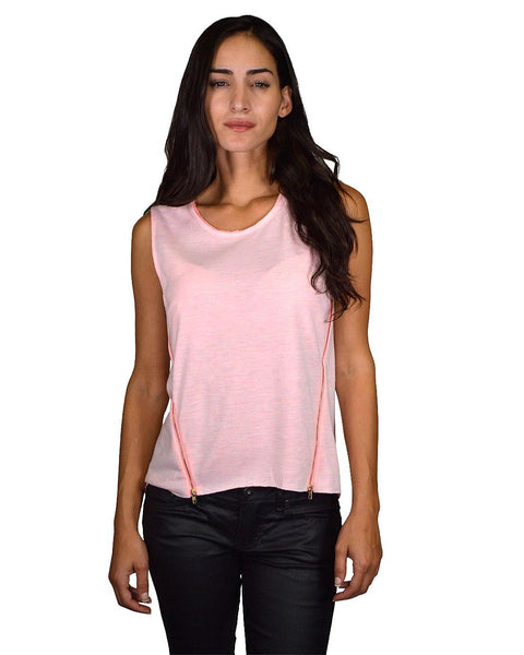 Sleeveless High Low Round Neck Top - zakastore