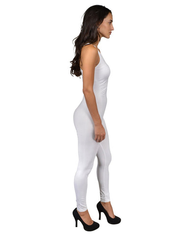 Pull-on style Jumpsuit crafted in stretch knit fabric