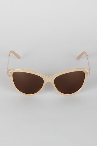 Curved Wing Silhouette Sunglasses - zakastore