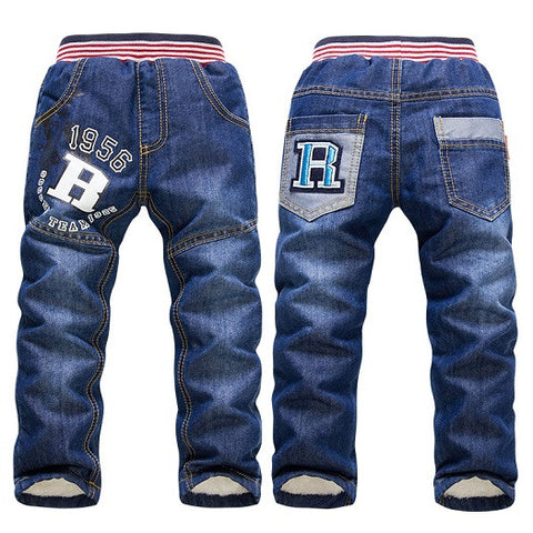 SK083 NEW children pants thick winter warm jeans - zakastore