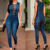 Womens Denim Romper