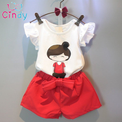NEW Summer Style Baby Girls Clothing Set