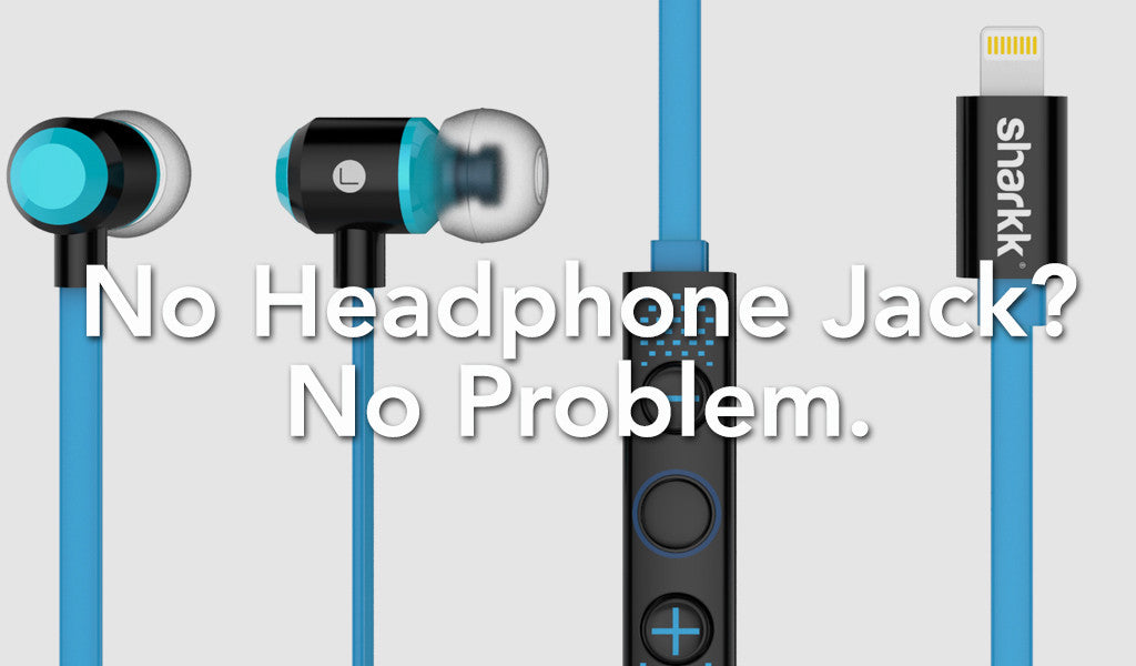 No headphone jack? No problem with the Sharkk Lightning Headphones