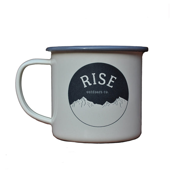 Rise Outdoors Enamel Camping Mug