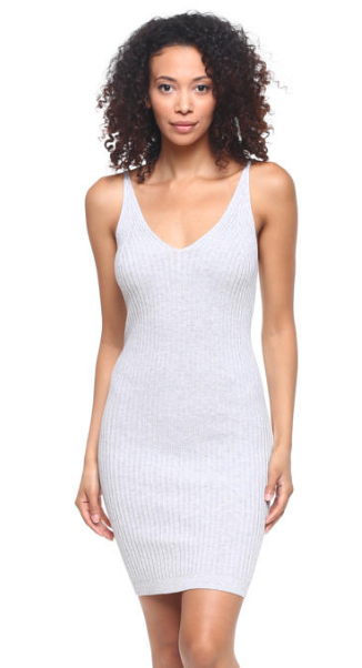 cool casual ribbed dress