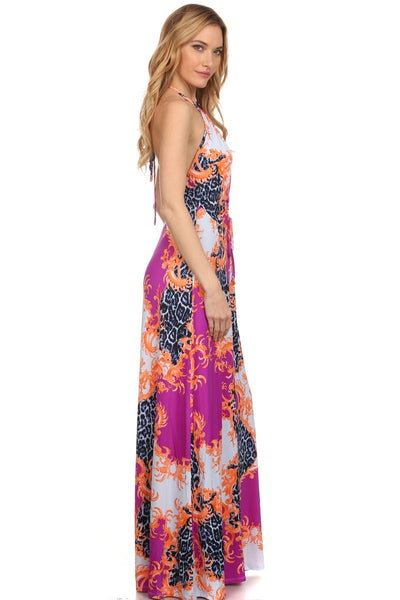 Royalty Front Slit Maxi Dress