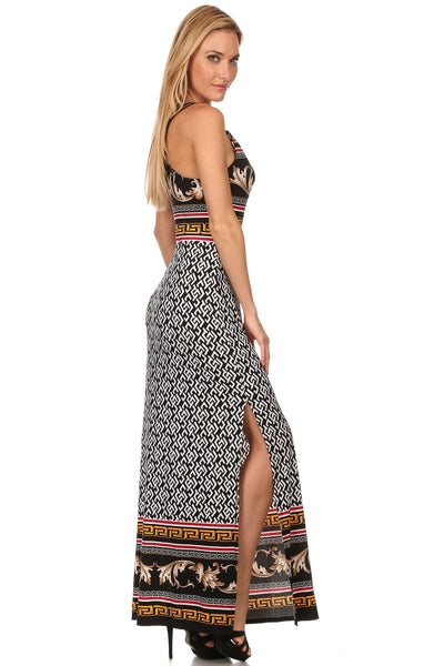 maxi dress side view