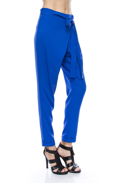blue easy fit soft pants