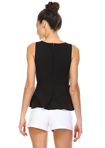 Midnight Angel Peplum Top