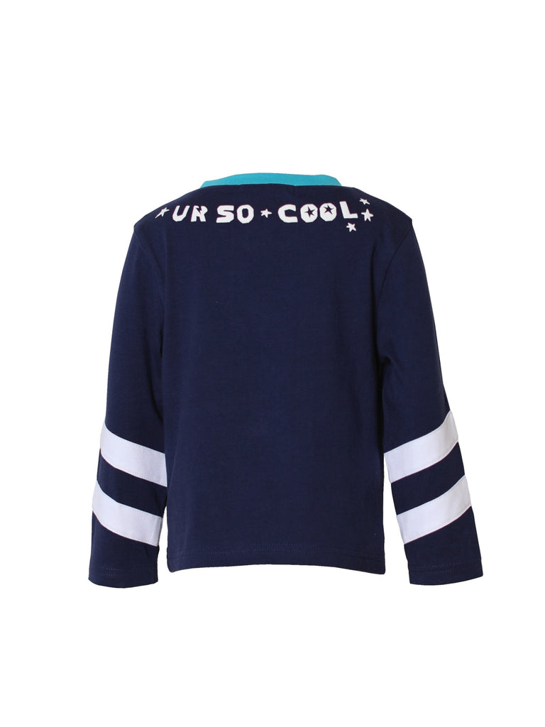 Kinderkind 2T 3T 4T 5T 6 7 kids apparel Baby clothes Children's clothing  Kids Fashion Kids clothing  toddler clothes machine washable  Playwear  Boys clothing  Boys Dino Graphic Tee V-neck 3 quarter sleeve tee Rib neck detail Fun dino graphic  Navy Machine washable 100% cotton jersey