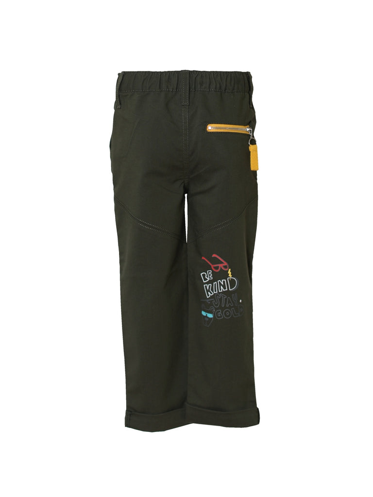 Boys Flat Front Stretch Trouser