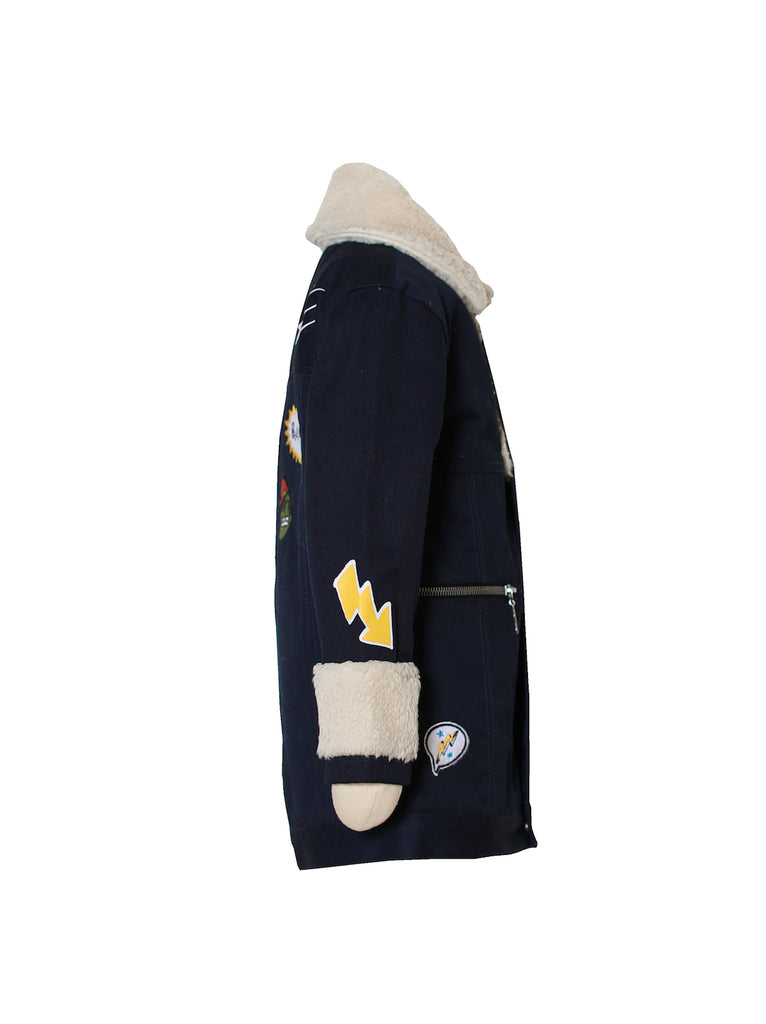 Boys Sherpa Collar Jacket