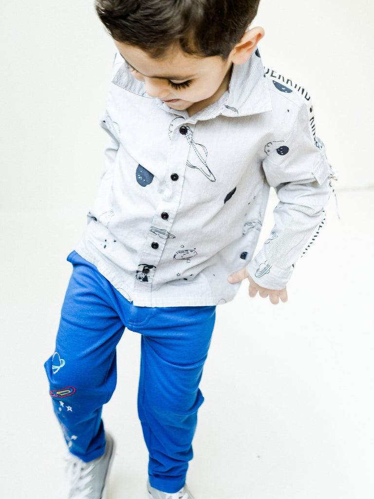 Boy's Knit Pant with Kinderkind Grosgrain Belt