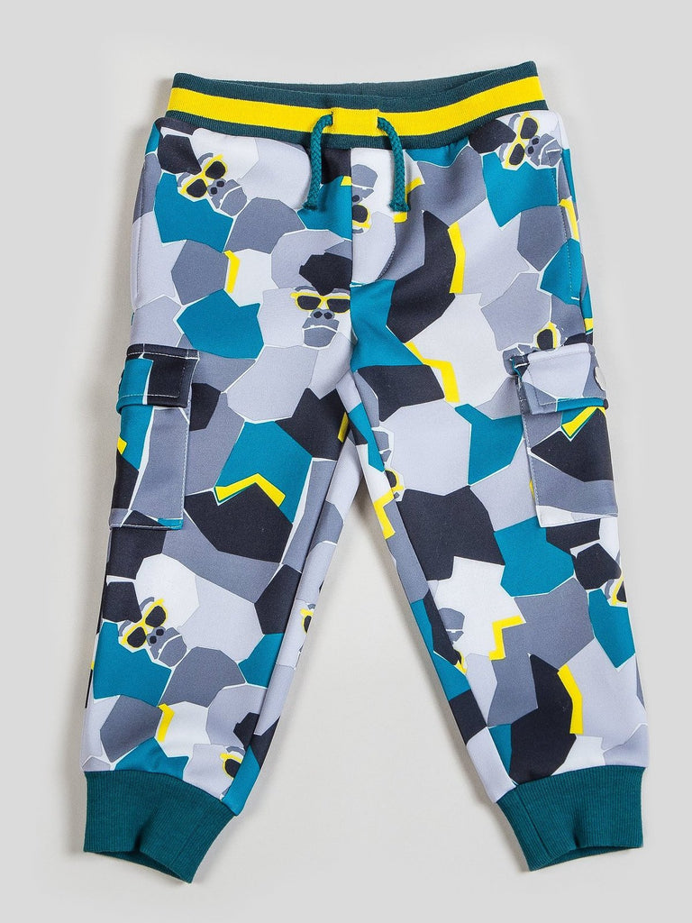 Boy's Tossed Print Gorilla Tracksuit Set