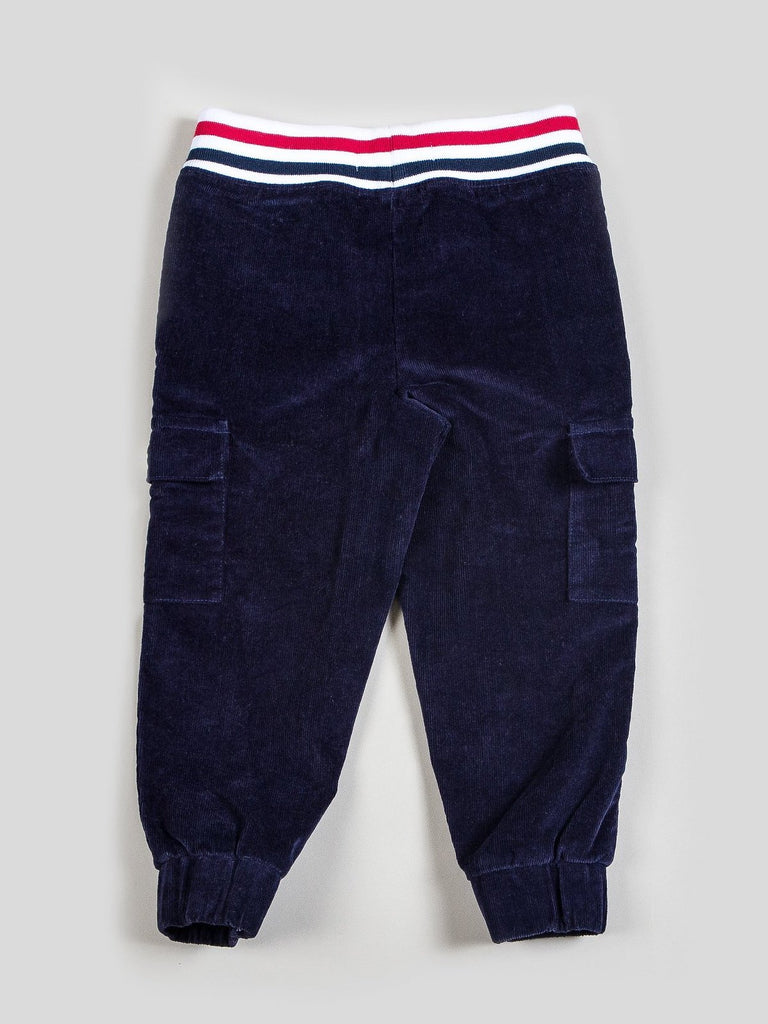 Boy's Corduroy Jogger Pants with Ribbed Knit Waistband