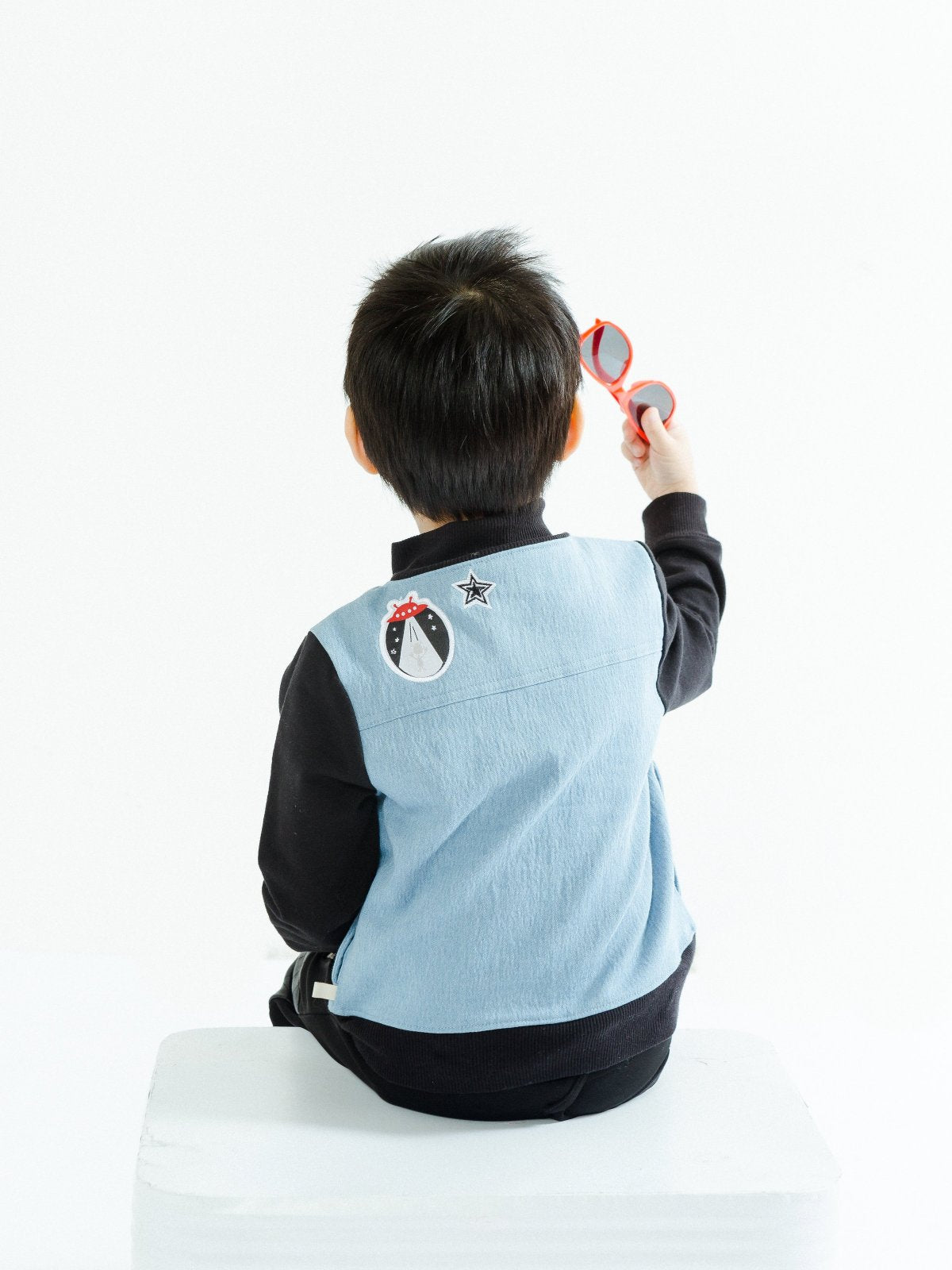 Boy's Mixed Media Patchwork Jacket