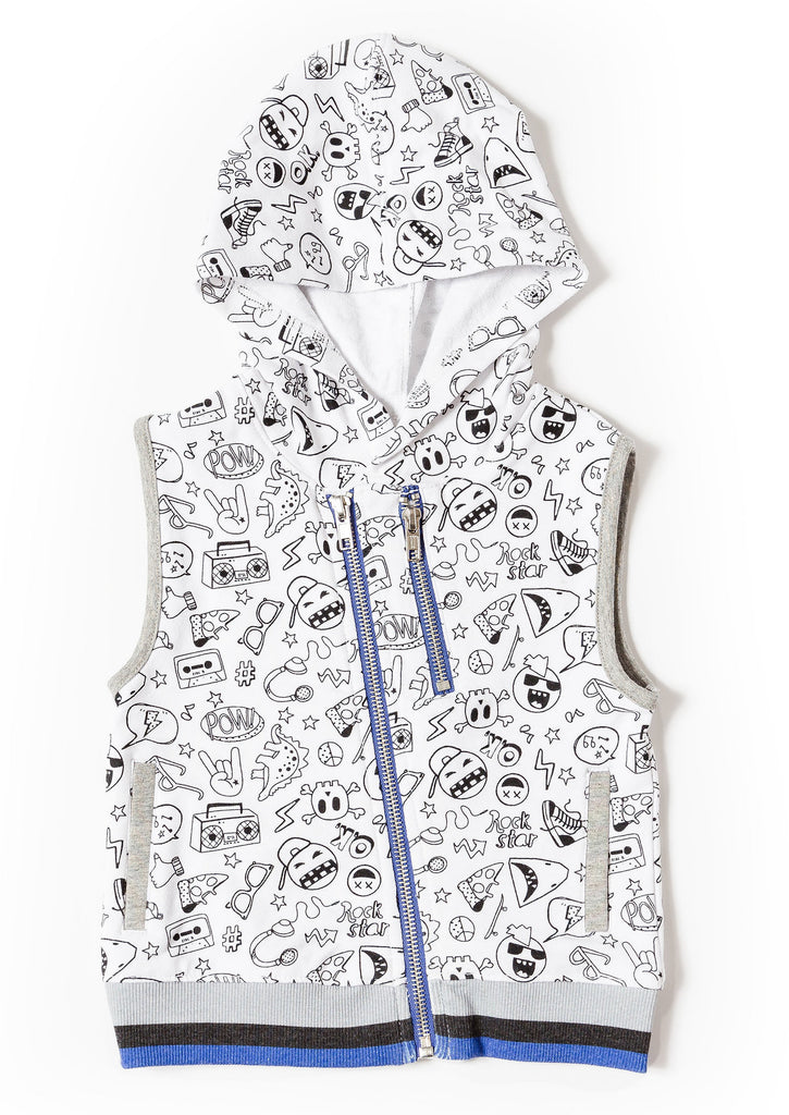 printed vest for boys