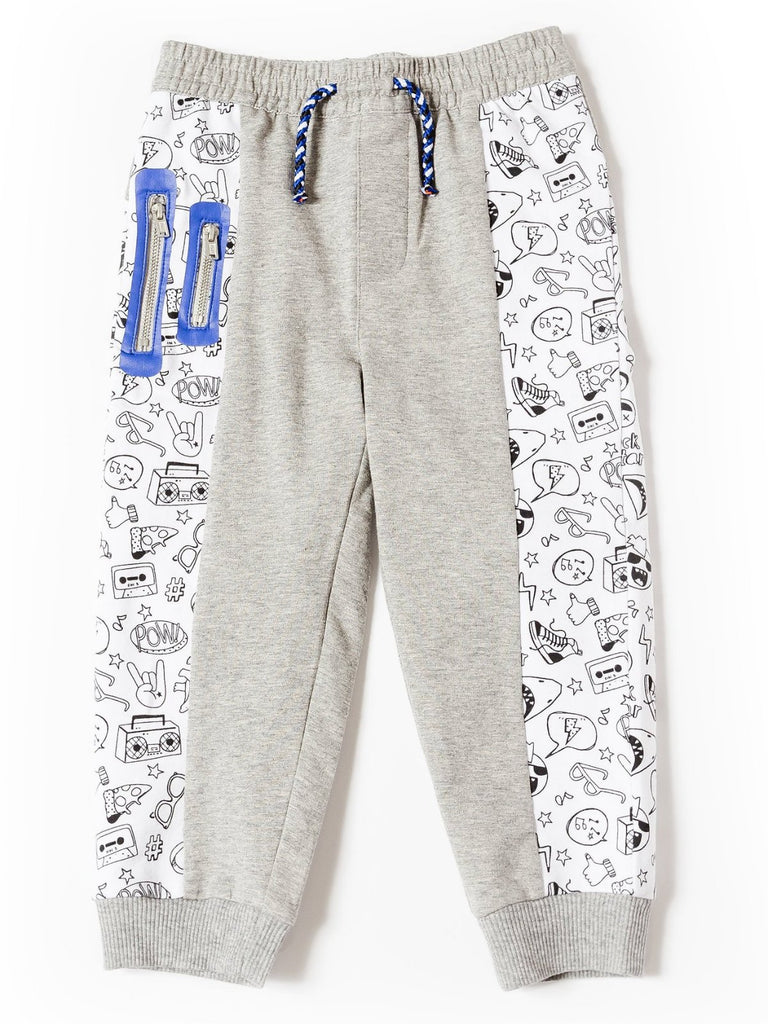 Boys printed block joggers